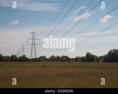 High voltage power lines, Newbridge, England