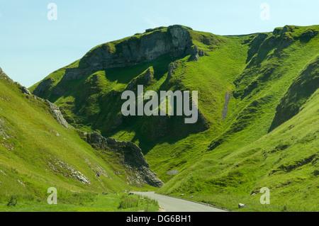 Winnats Pass, Castleton, Derbyshire, England - Stock Photo