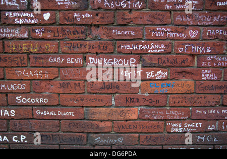 Graffiti cover wall stock photo royalty free image for Beatles abbey road wall mural
