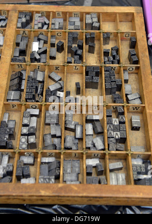 Old fashioned typesetting printing. - Stock Photo