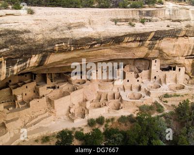 Cliff Palace,Mesa Verde National Park,Colorado - Stock Photo
