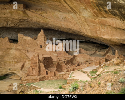 The Long House cliff dwelling of the Anasazi,Mesa Verde National Park,Colorado - Stock Photo