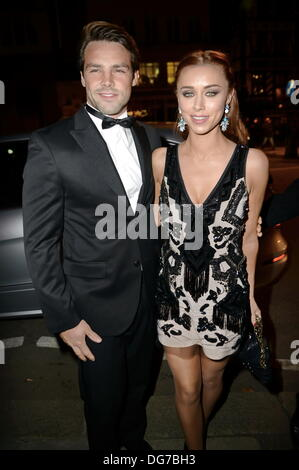 London UK, 15th Oct 2013 : Una Healy and Ben Foden arrive at the Attitude Magazine Awards 2013 at the Royal Courts - Stock Photo
