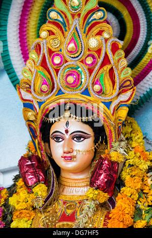 Durga. Hindu Goddess deity statue. Andhra Pradesh, India - Stock Photo