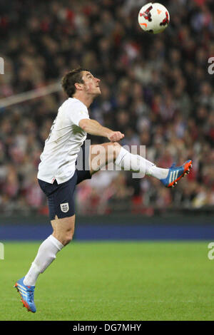 London, UK. 15th Oct, 2013. Leighton Baines during the World Cup Qualifier between England and Poland from Wembley - Stock Photo