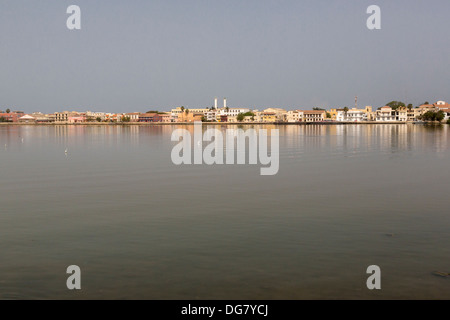 Senegal, Saint Louis. View from the Mainland, across the River Senegal. - Stock Photo