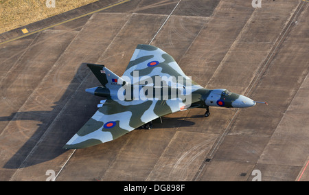 Avro Vulcan XH558 on the ramp at Fairford during RIAT 2013 - Stock Photo
