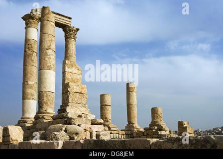 Temple of Hercules, The Citadel, Amman, Jordan, Middle East - Stock Photo