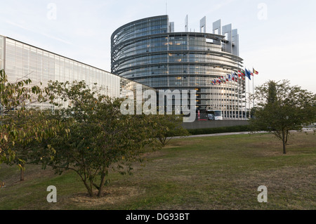 Elk213-1381 France, Alsace, Strasbourg, European Parliament - Stock Photo