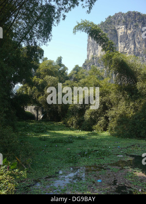 China, Yangshuo town Karst landscape - Stock Photo