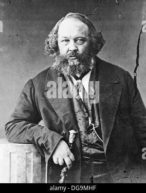 Mikhail Bakunin (1814 - 1876), Russian revolutionary philosopher. Photograph by Nadar - Stock Photo