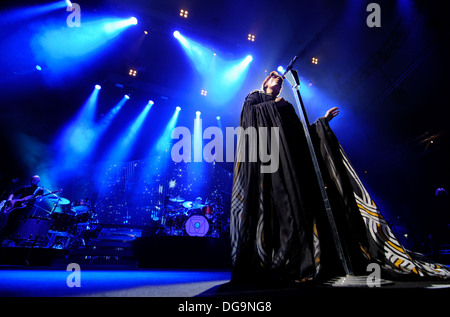Florence Welch of Florence and The Machine performs on stage during a sellout performance at Alexandra Palace - Stock Photo