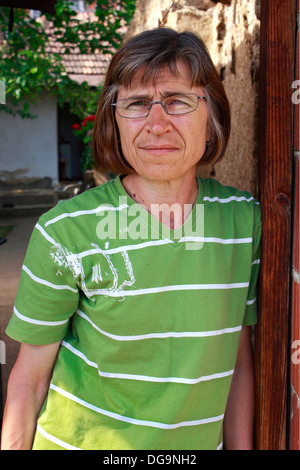 Portrait of a kosovar woman in Prishtina - Stock Photo