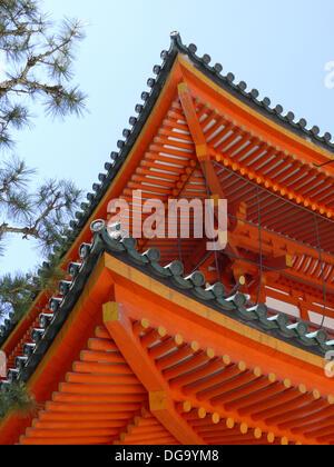 Detail of the Roof. Heian Shrine. Kyoto. Japan - Stock Photo