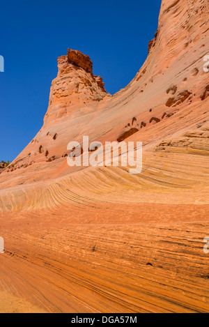 Rock formation, near Harris Wash, Grand Staircase Escalante National Monument, Utah USA - Stock Photo