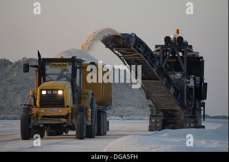 Botswana Ash, Salt Works - Stock Photo