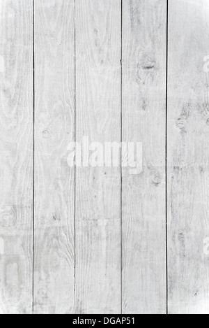 White wood planks texture with natural patterns background - Stock Photo