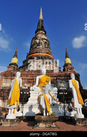 Wat Yai Chai Mongkhon in Ayutthaya province, Thailand - Stock Photo