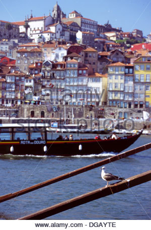 Ribeira in Porto Portugal - Stock Photo