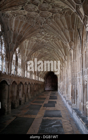 The Cloisters in Gloucester Cathedral, Gloucester, Glous, UK. - Stock Photo