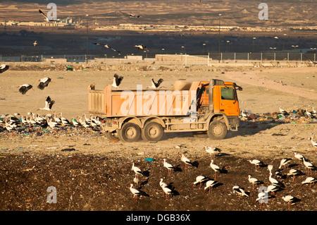 Dump storage area in Saragossa Industrial Equipment zone  Saragoza  Spain - Stock Photo