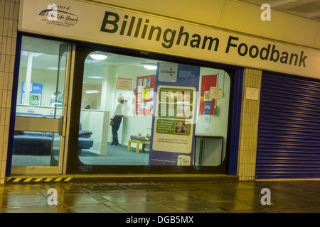 Foodbank operated by local church in Billingham town centre, Billingham, north east England, UK - Stock Photo