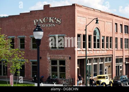 Packs Tavern in Asheville, North Carolina - Stock Photo