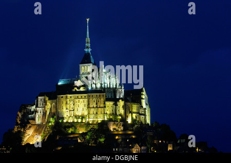Mont-Saint-Michel (Benedictine abbey). Normandy. France - Stock Photo