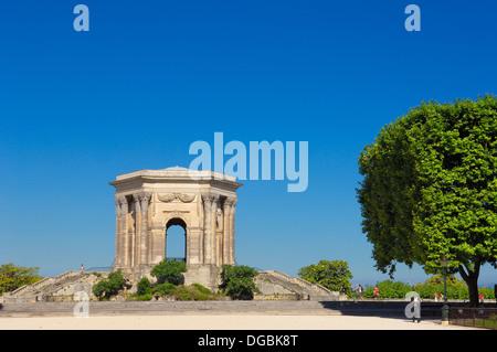 Chateau d´Eau, Promenade du Peyrou. Montpellier. Hérault. Languedoc_Roussillon. France - Stock Photo