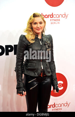 Berlin, Germany. 17th Oct, 2013. Madonna attend to the opening event of her Fitness Club 'Hard Candy' in Berlin. - Stock Photo