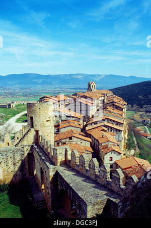 View from the castle. Frías, Burgos province, Castilla León, Spain. - Stock Photo