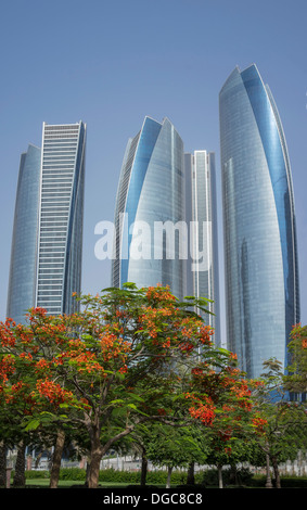 Etihad Towers, Adu Dhabi, United Arab Emirates - Stock Photo