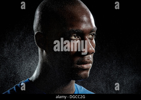 Close up portrait of basketball player