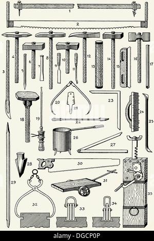 Old quarryman´s tools - Stock Photo