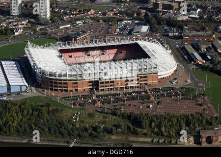 aerial view of The Stadium of Light, home of Sunderland AFC - Stock Photo