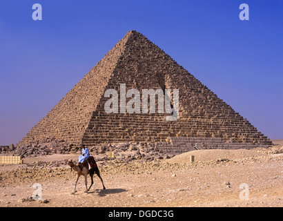 Pyramid of Menkaure, Giza, Cairo, Egypt, Africa - Stock Photo