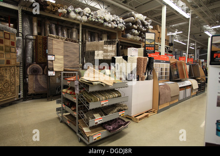 Flooring Carpet Samples On Display In The Home Depot