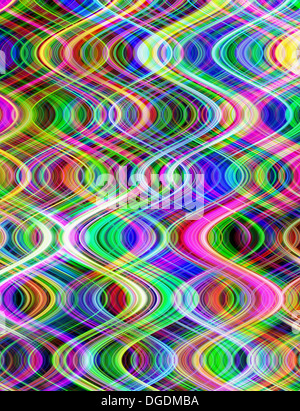 Multicoloured digital vertical waves pattern abstract illustration. - Stock Photo