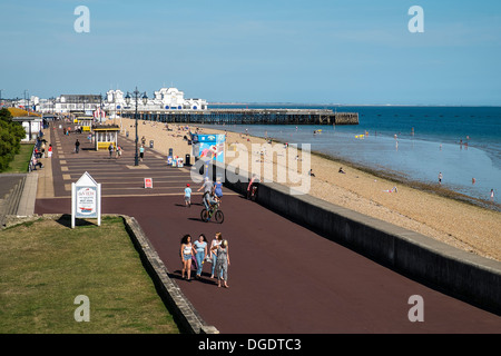 Southsea Seafront and Pier - Stock Photo