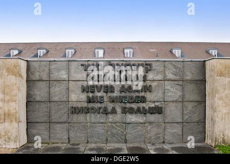 Germany, Bavaria, Dachau, Kz-Gedenkstaette Memorial center - Stock Photo