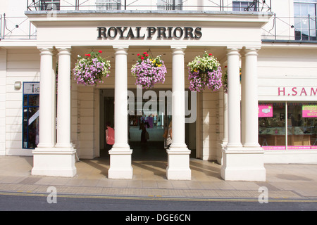 Entrance to the Royal Priors shopping centre, Leamington Spa. - Stock Photo