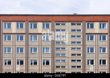 GDR style apartment buildings in Berlin,Germany - Stock Photo
