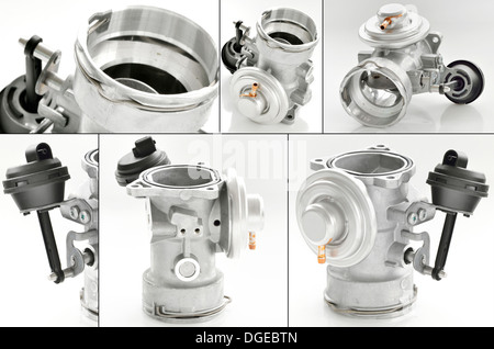 throttle isolated shoot in studio - Stock Photo