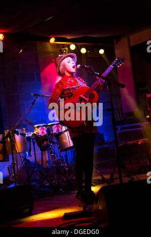 Milan Italy. 18th Oct 2013. The American singer Z BERG perform live at Salumeria della Musica opening the show of - Stock Photo