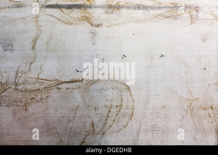 scratched rusty grunge metal sheets. abstract industrial background - Stock Photo