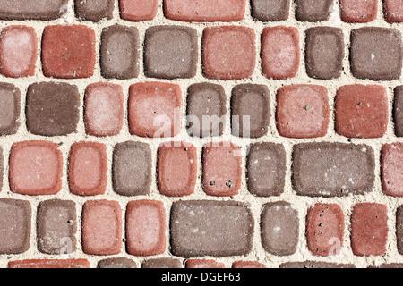 Sett bricks, texture or background, stone pavement - Stock Photo