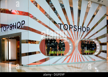 Topshop store in the Westfield indoor shopping malls - Stock Photo