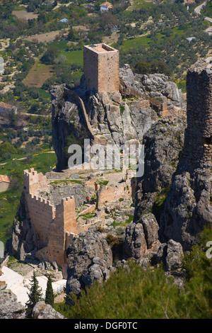 Sierra de Cazorla, La Iruela. Castle, Sierra de Cazorla Segura y las Villas Natural Park, Jaen Province, Andalusia, - Stock Photo