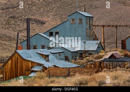 Stamp Mill Mine, Bodie State Historic Park, Mono County, California - Stock Photo