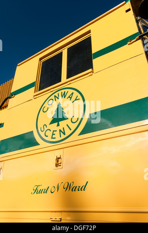 Detail of CSRX 252 locomotive in North Conway, New Hampshire, USA. - Stock Photo